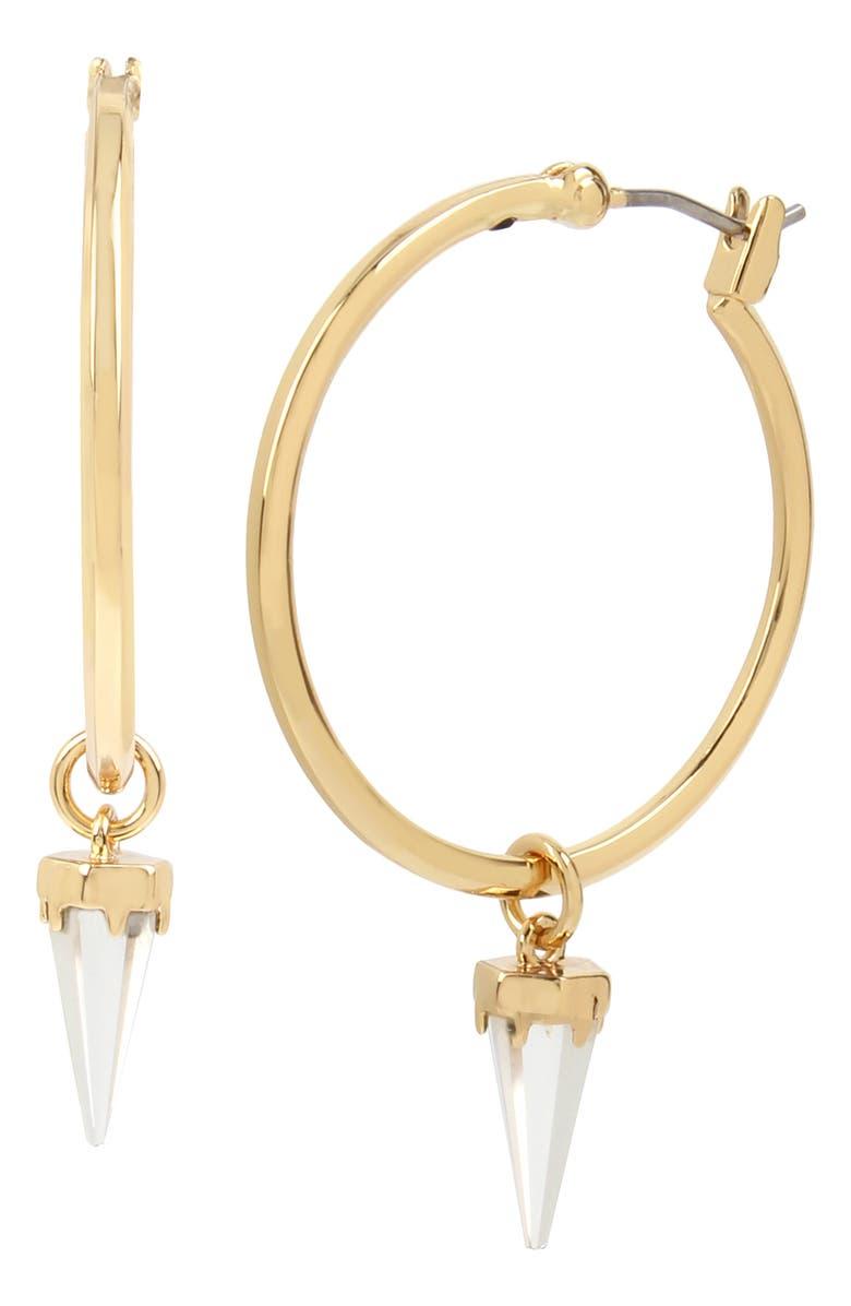ALLSAINTS Spike Drop Hoop Earrings, Main, color, 710