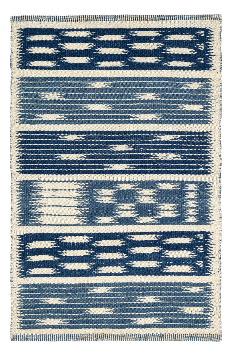 DASH & ALBERT Big Sur Handwoven Wool Blend Rug, Main, color, BLUE