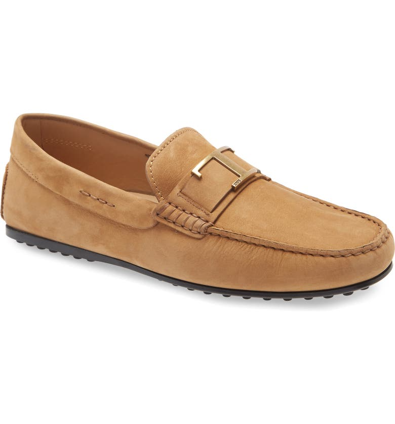 TOD'S City Gommino Driving Shoe, Main, color, CAMEL