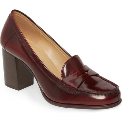 Michael Michael Kors Buchanan Block Heel Loafer- Burgundy