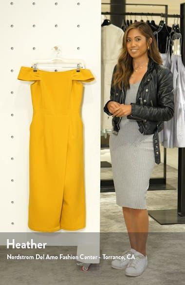 Roxanne Off the Shoulder Crop Jumpsuit, sales video thumbnail