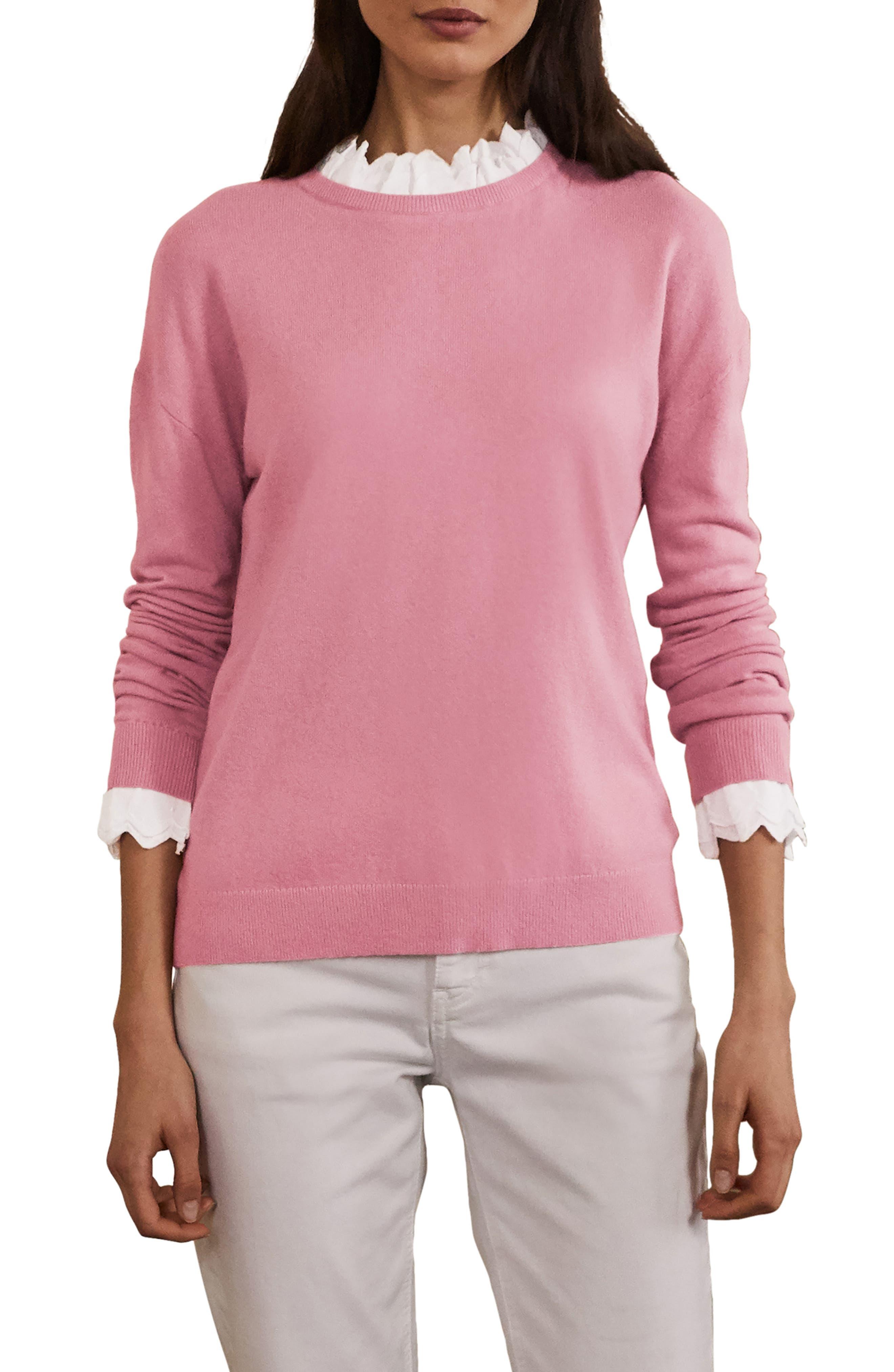 Lydia Woven Frill Trim Sweater
