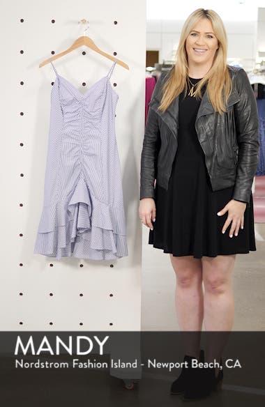 Stripe Ruched Cotton Dress, sales video thumbnail
