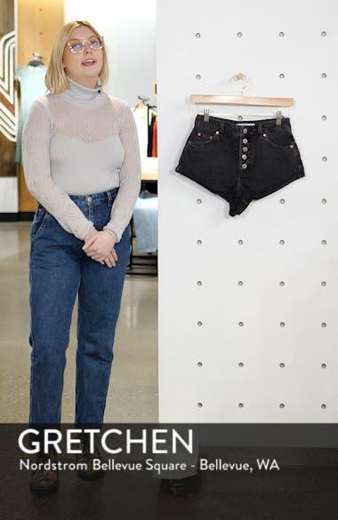 Kiri Button Denim Shorts, sales video thumbnail