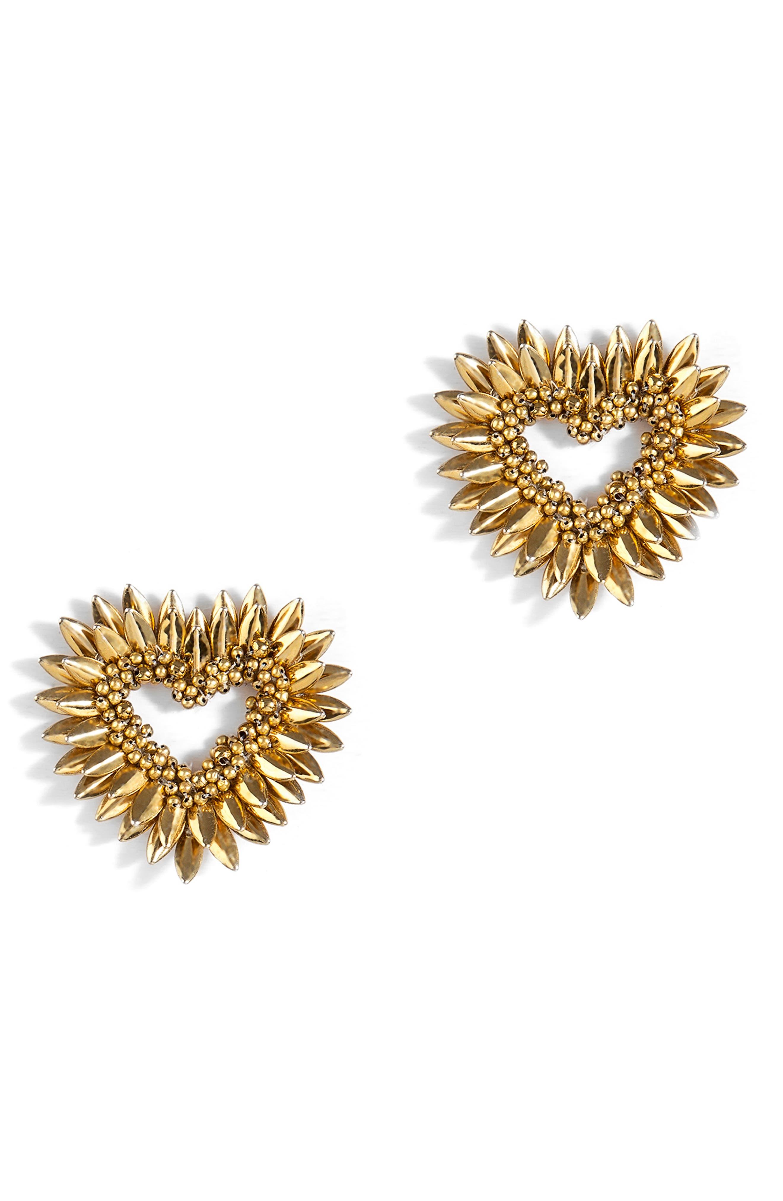 Keya Fringe Heart Earrings