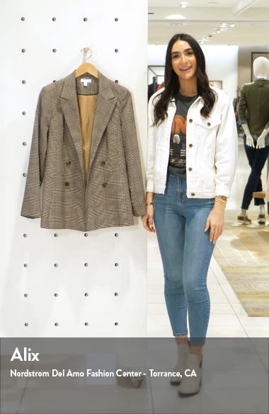 Ella Check Double Breasted Blazer, sales video thumbnail