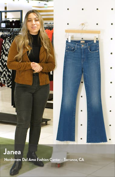 High Waist Fray Hem Jeans, sales video thumbnail