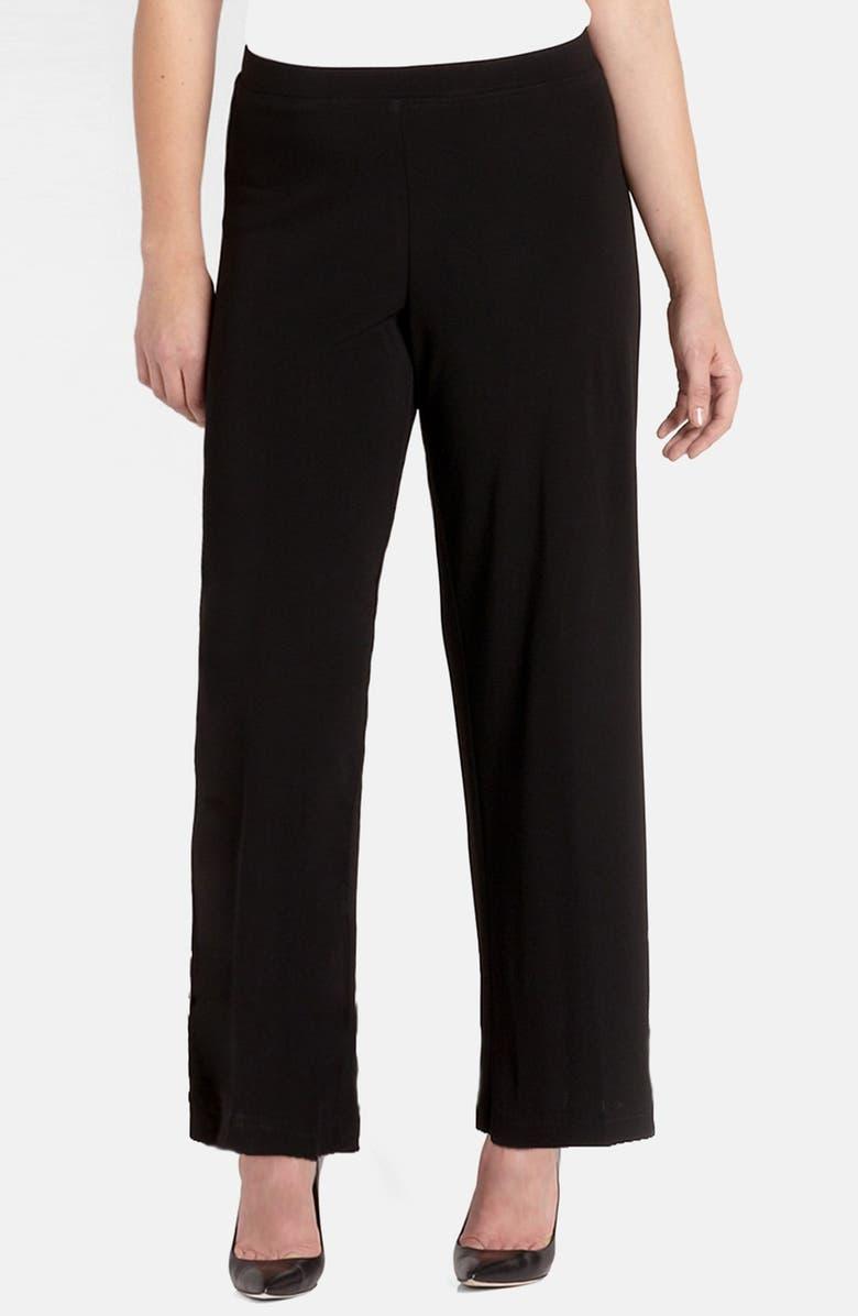 KAREN KANE Straight Leg Matte Jersey Pants, Main, color, BLACK