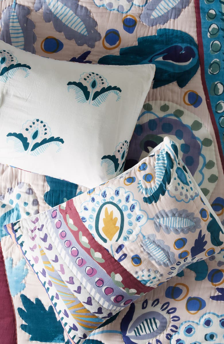 ANTHROPOLOGIE HOME Sunder Set of 2 Pillow Shams, Main, color, BLUE