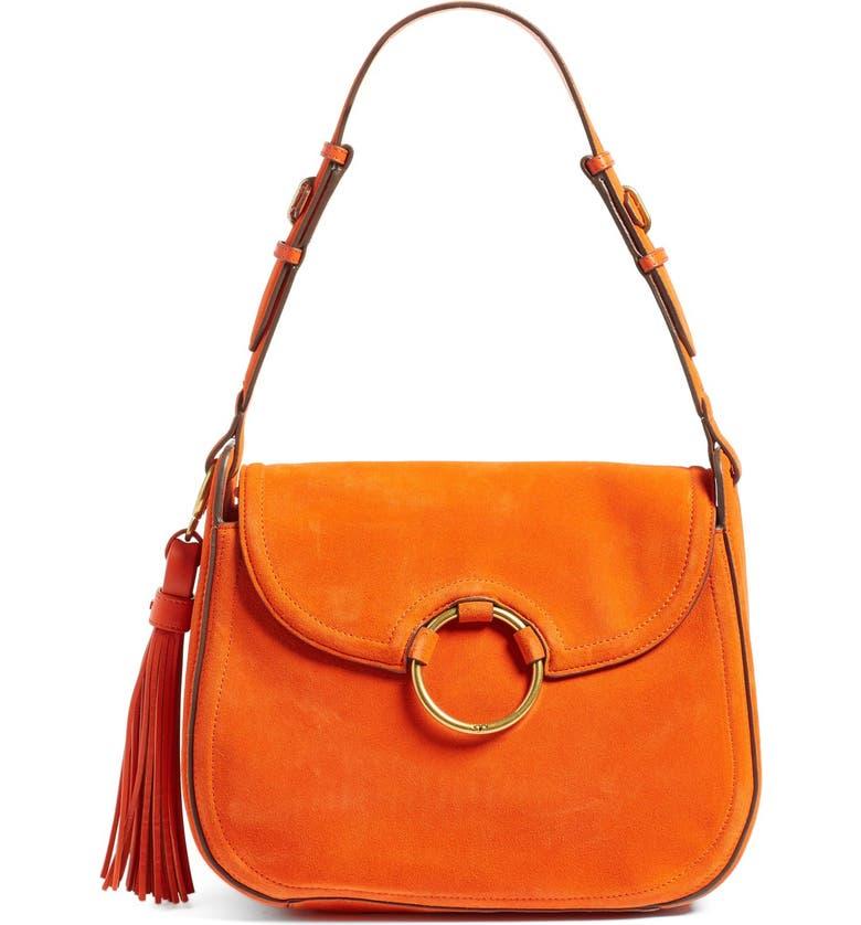 TORY BURCH Leather Shoulder Bag, Main, color, 802