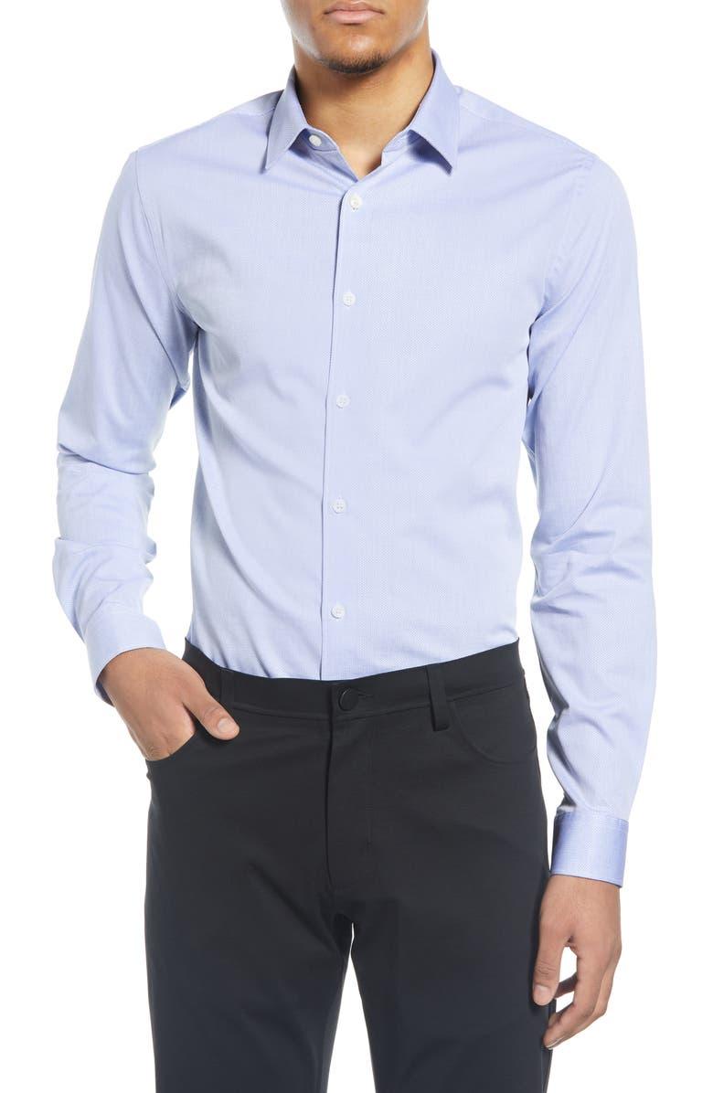 TIGER OF SWEDEN Extra Slim Fit Stretch Dress Shirt, Main, color, BLUE