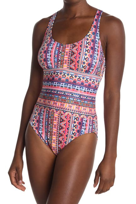 Image of NEXT Daylight Patterned One-Piece Swimsuit