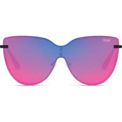 Quay Australia Daydream 5m Cat Eye Shield Sunglasses - Black / Pink