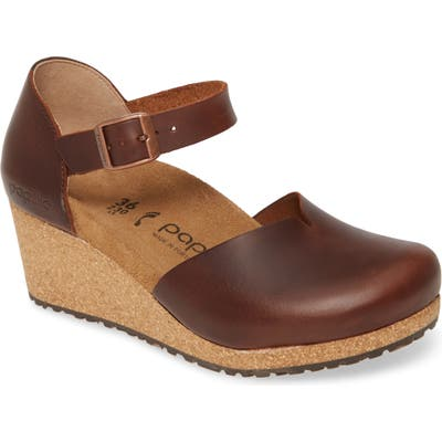 Birkenstock Mary Wedge Clog, Brown