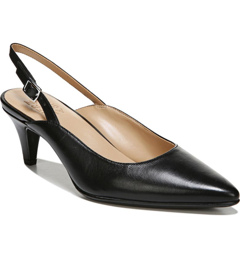 NATURALIZER Baylee Slingback Pump, Main, color, BLACK LEATHER