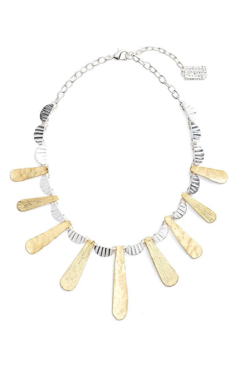 KARINE SULTAN Hammered Collar Necklace, Main, color, 041