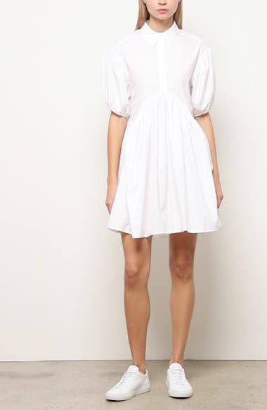 Esther Puff Sleeve Cotton Poplin Dress, video thumbnail