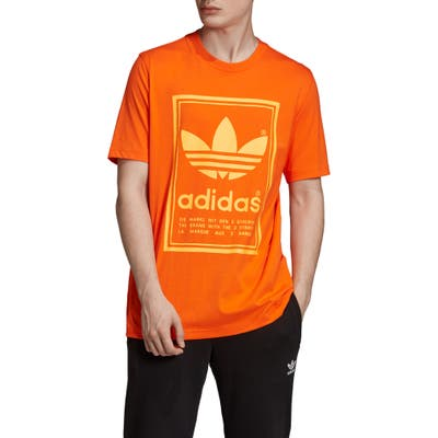 Adidas Originals Vintage Logo T-Shirt, Orange