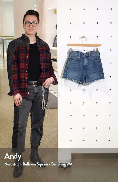 Urban Outfitters High Waist Denim Mom Shorts, sales video thumbnail