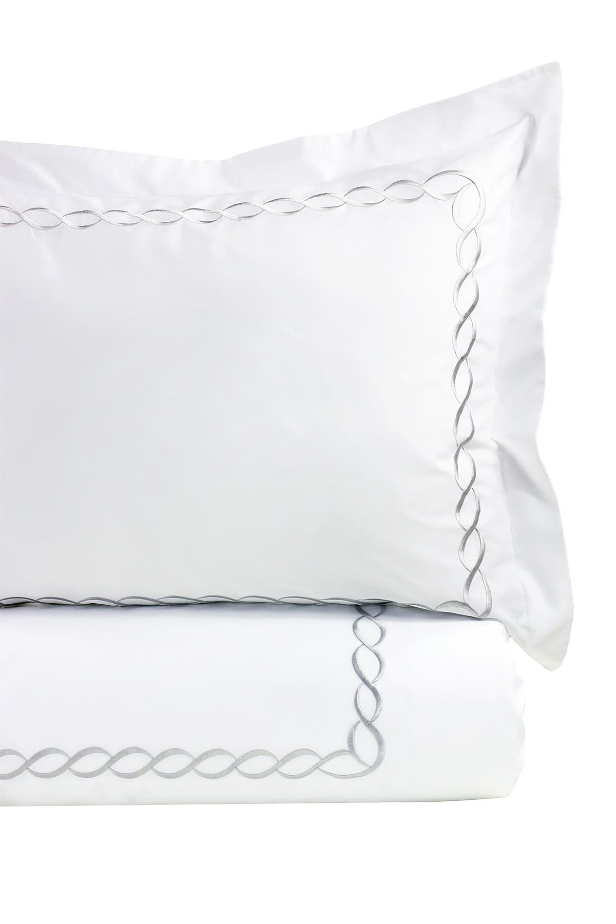 Image of Melange Home Rope Embroidered Queen 600-Thread Count 4-Piece Sheet Set
