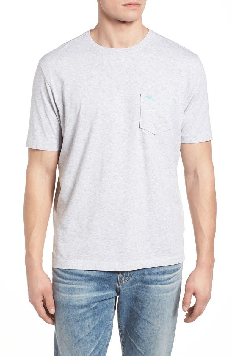 TOMMY BAHAMA 'New Bali Sky' Original Fit Crewneck Pocket T-Shirt, Main, color, ZINC GRAY HEATHER