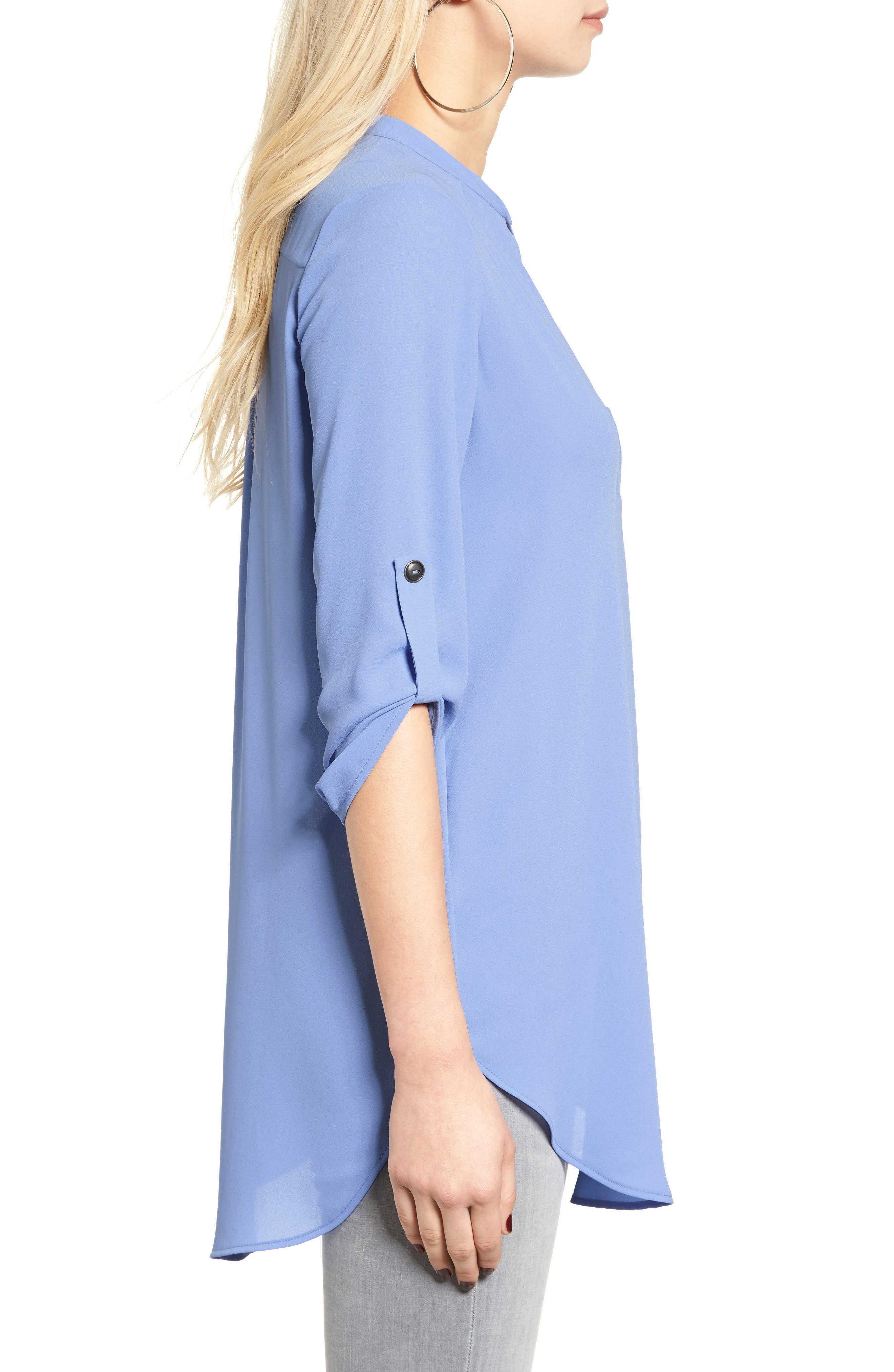 ,                             Perfect Roll Tab Sleeve Tunic,                             Alternate thumbnail 315, color,                             484