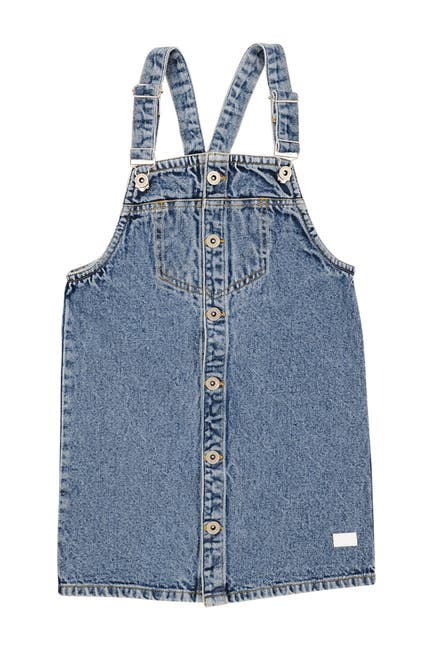Image of 7 For All Mankind Denim Overall Dress