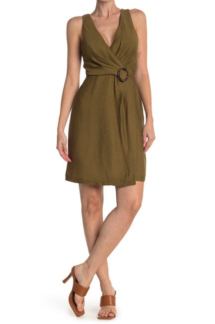Image of Joie Viara O-Ring Belted Wrap Dress