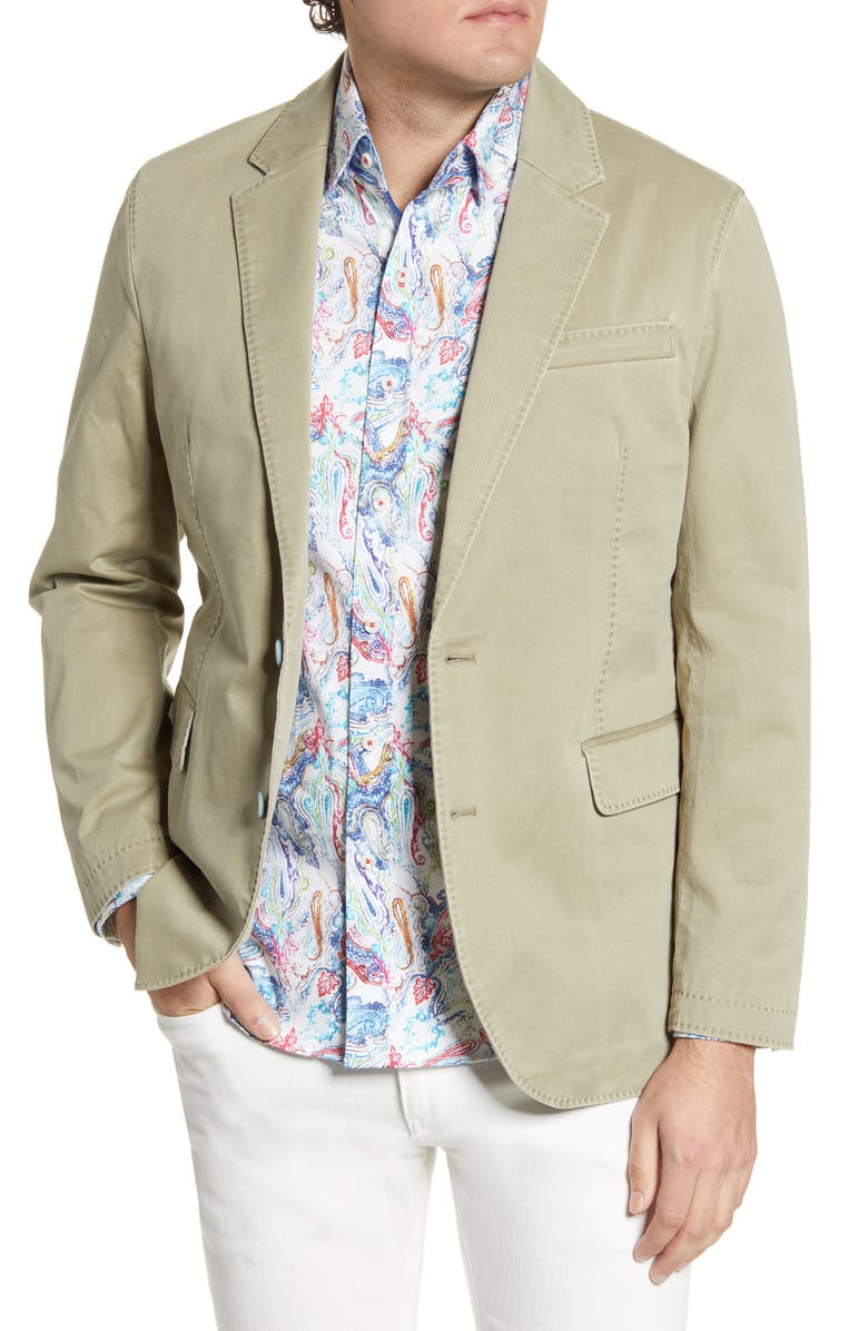 ROBERT GRAHAM Rally Washed Twill Sport Coat, Main, color, 262