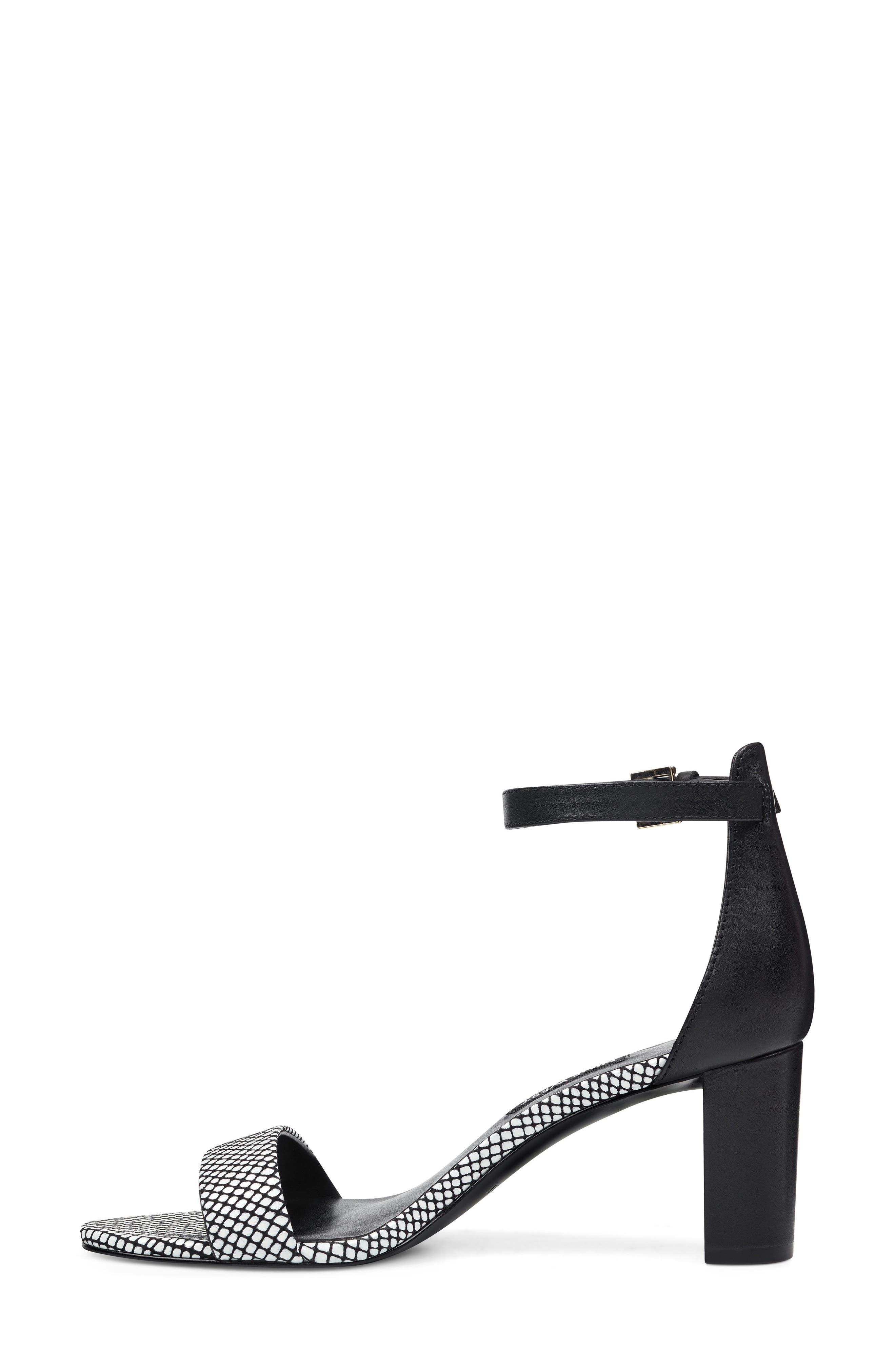 ,                             Pruce Ankle Strap Sandal,                             Alternate thumbnail 8, color,                             BLACK/ WHITE LEATHER