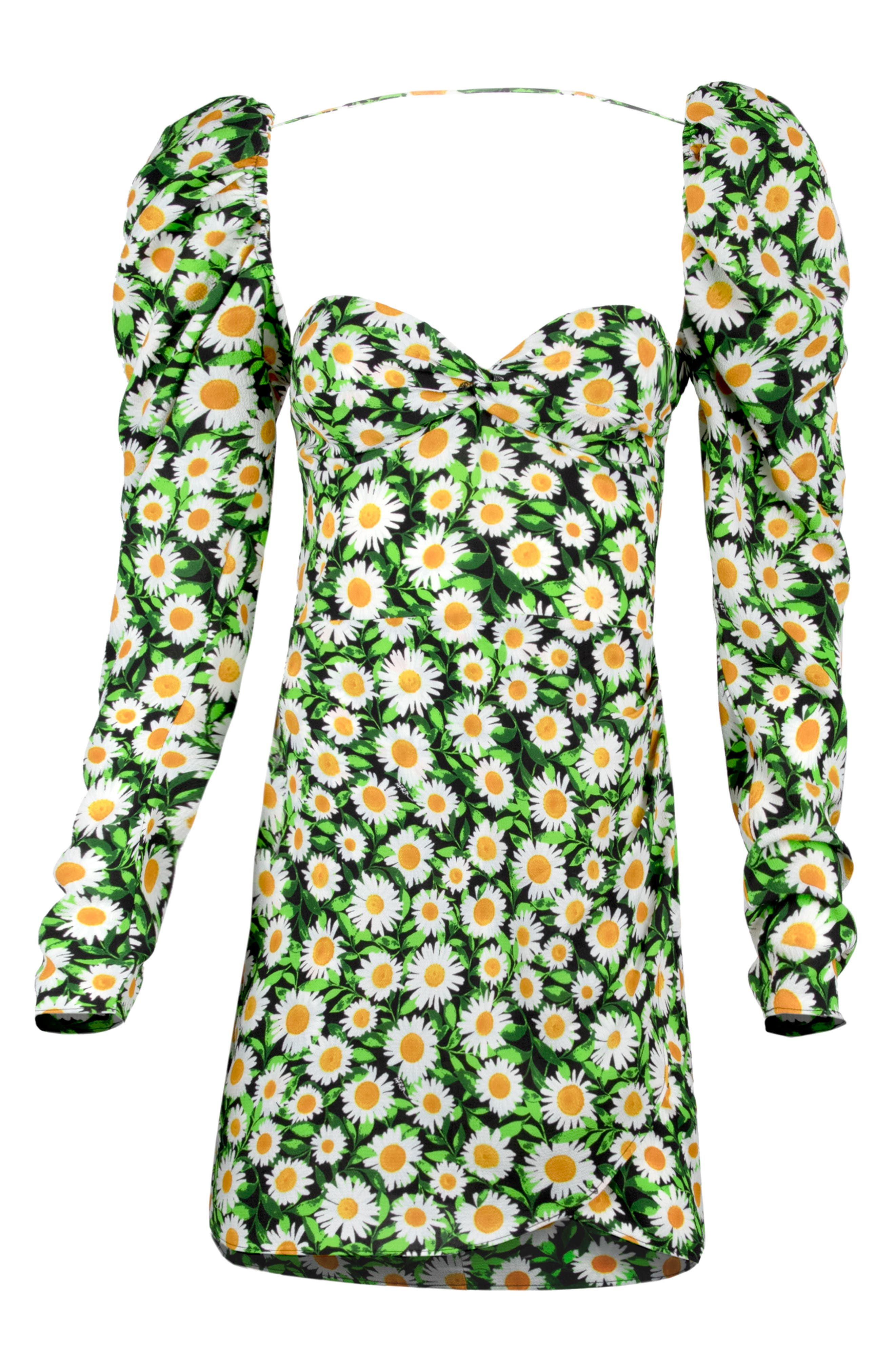 AFRM Etta Floral Ruched Long Sleeve Minidress