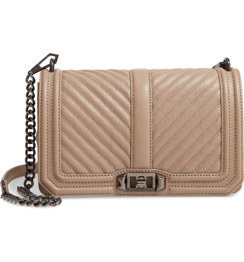 'Chevron Quilted Love' Crossbody Bag
