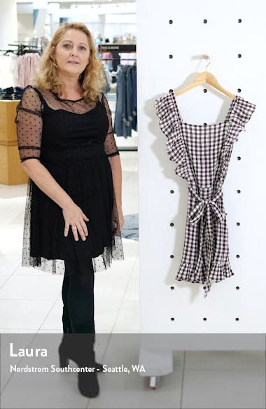 Gingham Ruffle Minidress, sales video thumbnail
