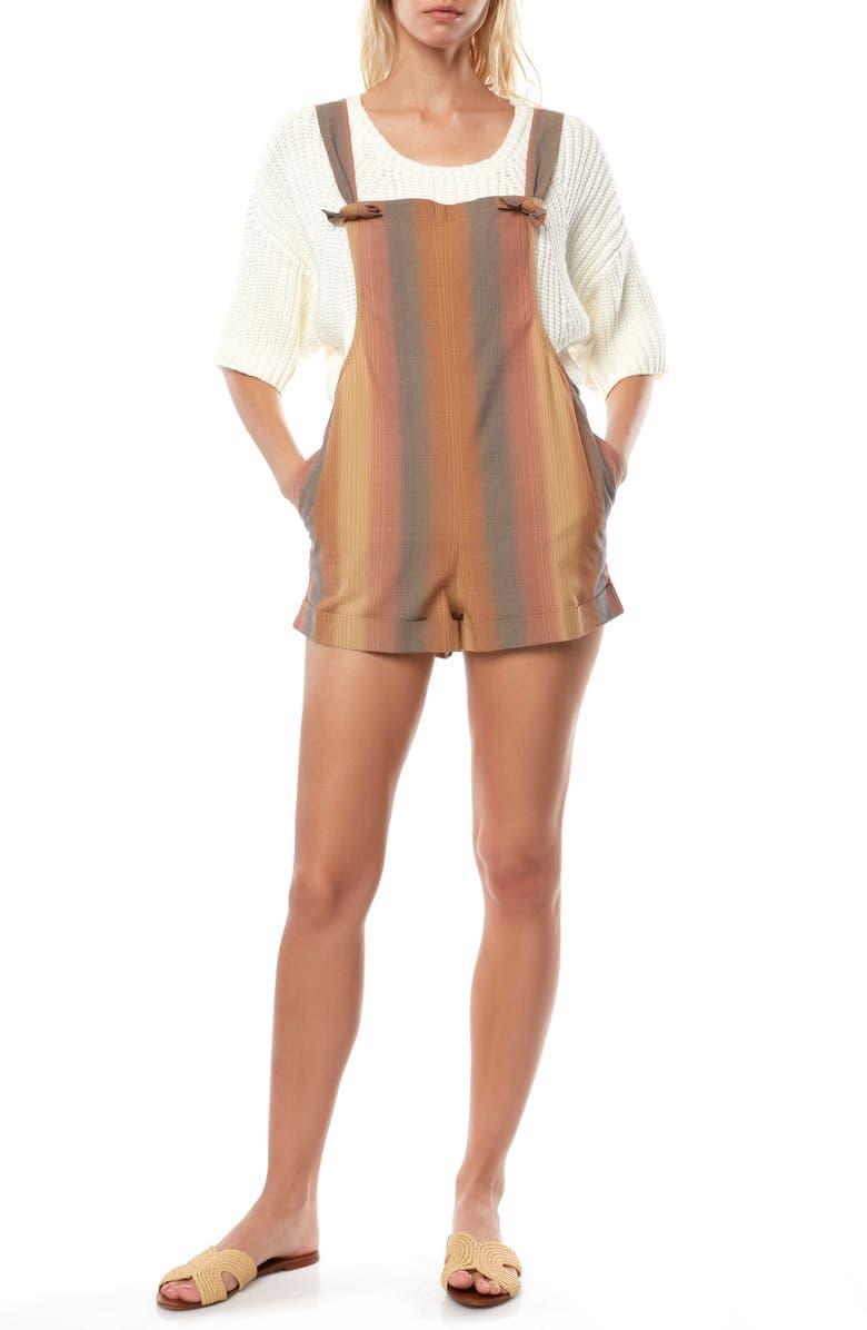 O'NEILL Trevor Stripe Short Overalls, Main, color, MULTI COLORED