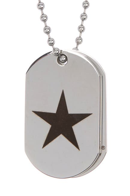 Image of Bruno Banani Star Dog Tag & Bead Chain Necklace