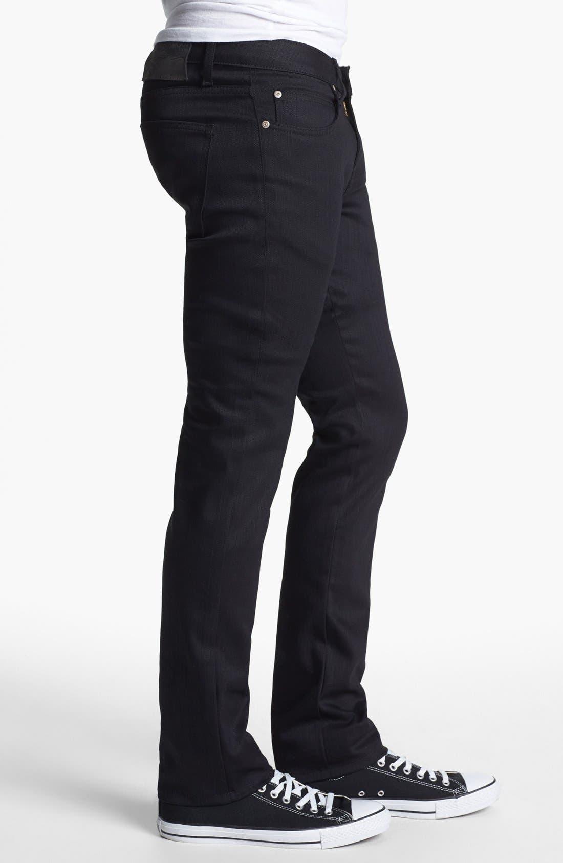 ,                             Skinny Guy Skinny Fit Jeans,                             Alternate thumbnail 7, color,                             BLACK POWER STRETCH