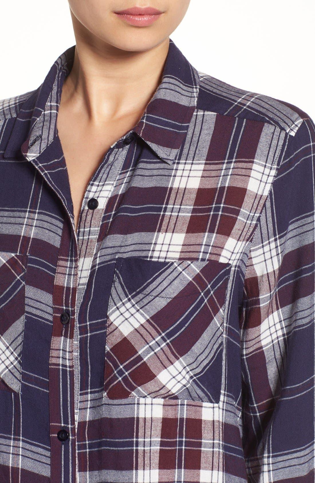 ,                             Plaid Tunic Shirt,                             Alternate thumbnail 28, color,                             421