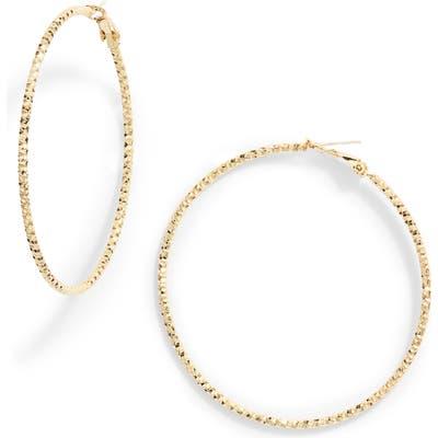 Ten79La Diamond Cut Hoop Earrings