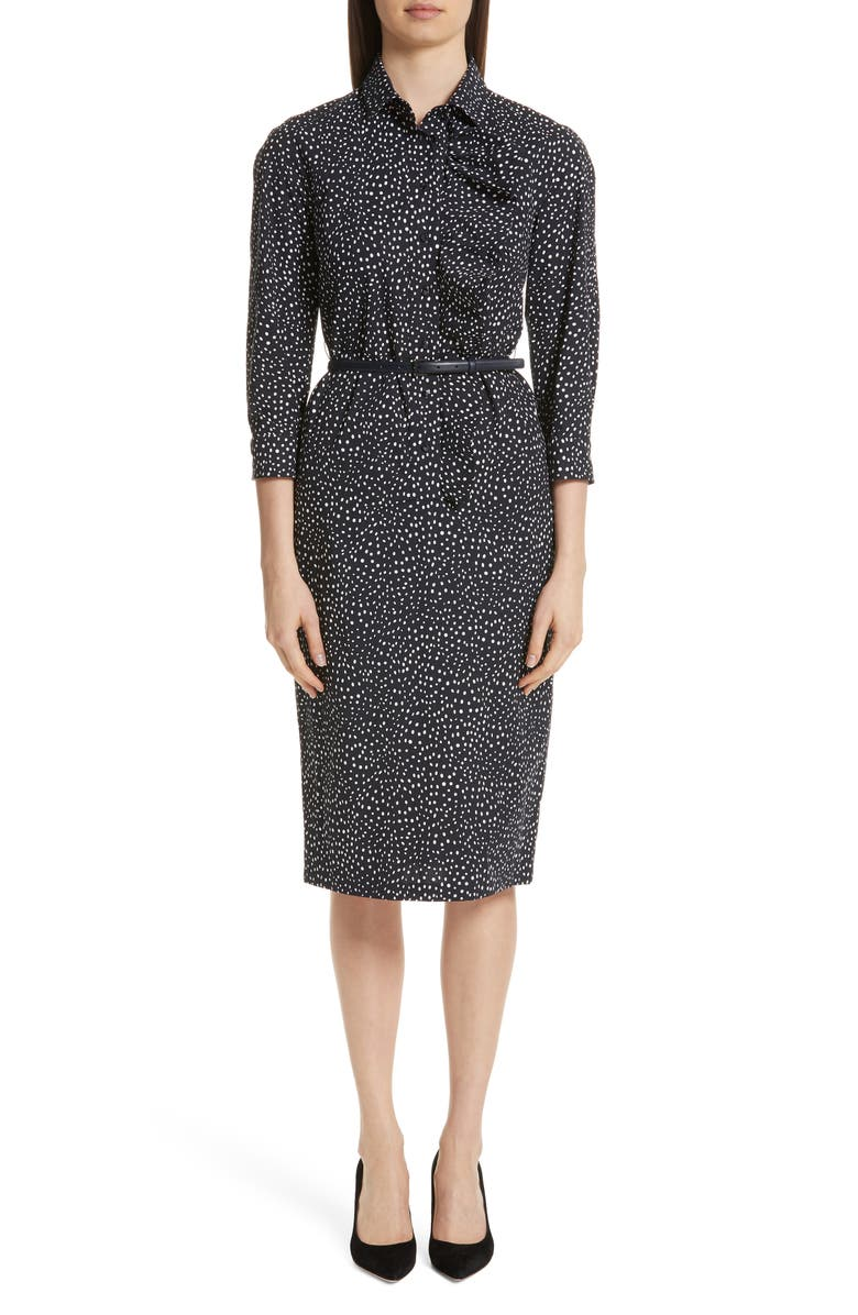 MAX MARA Vicky Belted Shirtdress, Main, color, 400