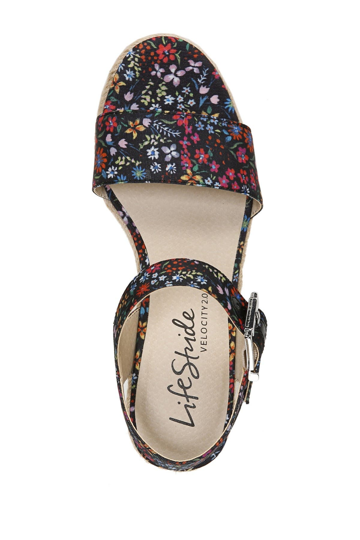 Lifestride Tango 2 Wedge Sandal In Black Multi
