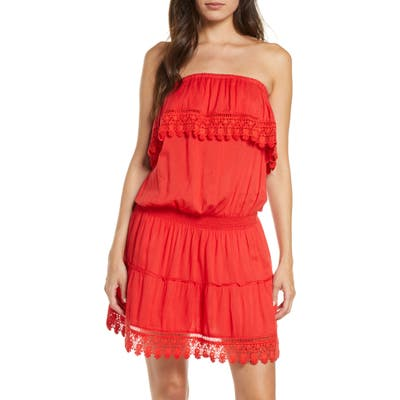 Melissa Odabash Joy Cover-Up Dress, Red (Nordstrom Exclusive)