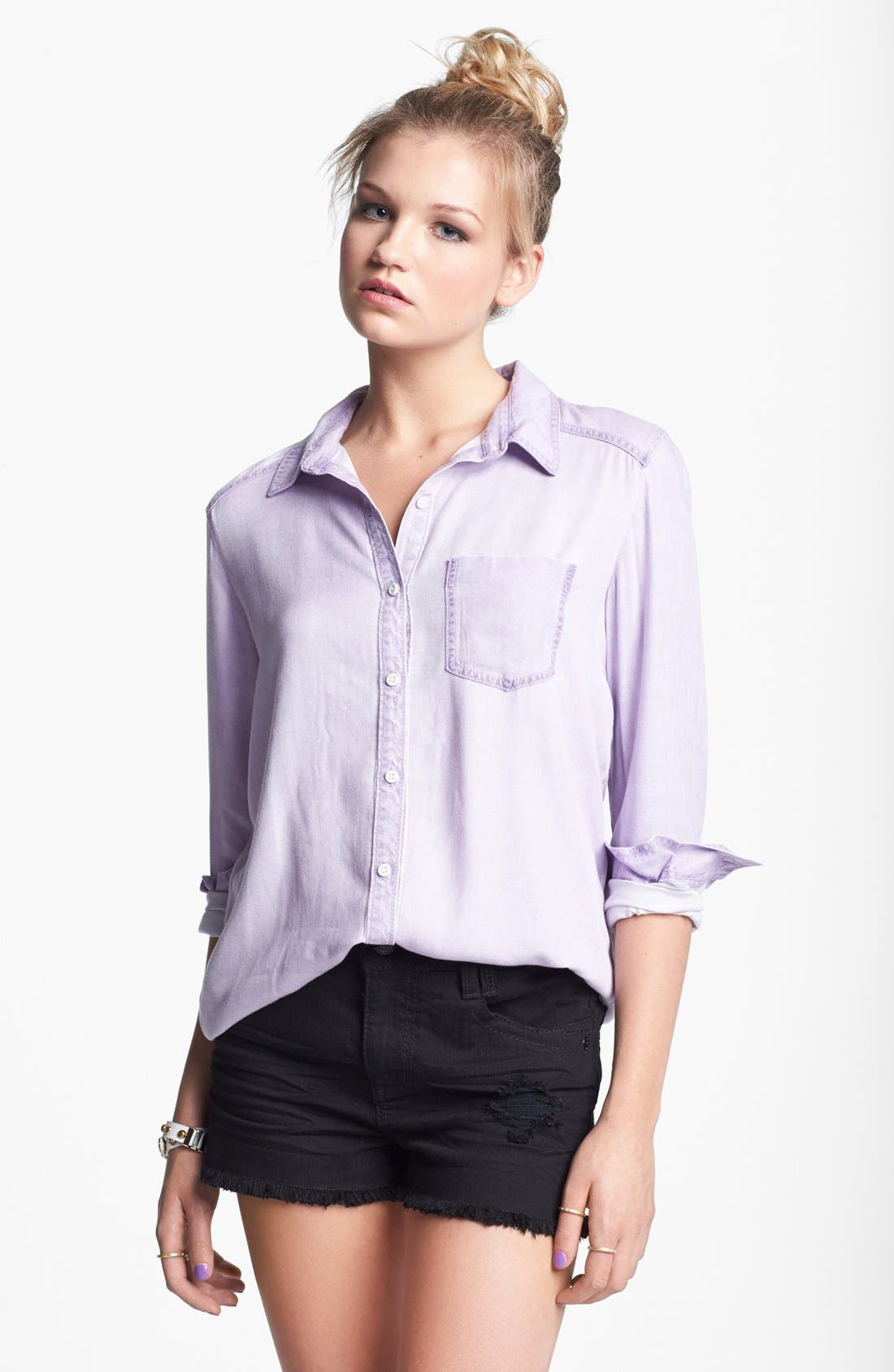 ,                             Rubbish Oversized Menswear Shirt,                             Main thumbnail 10, color,                             501