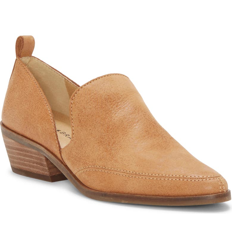 LUCKY BRAND Mahzan Bootie, Main, color, TAN LEATHER