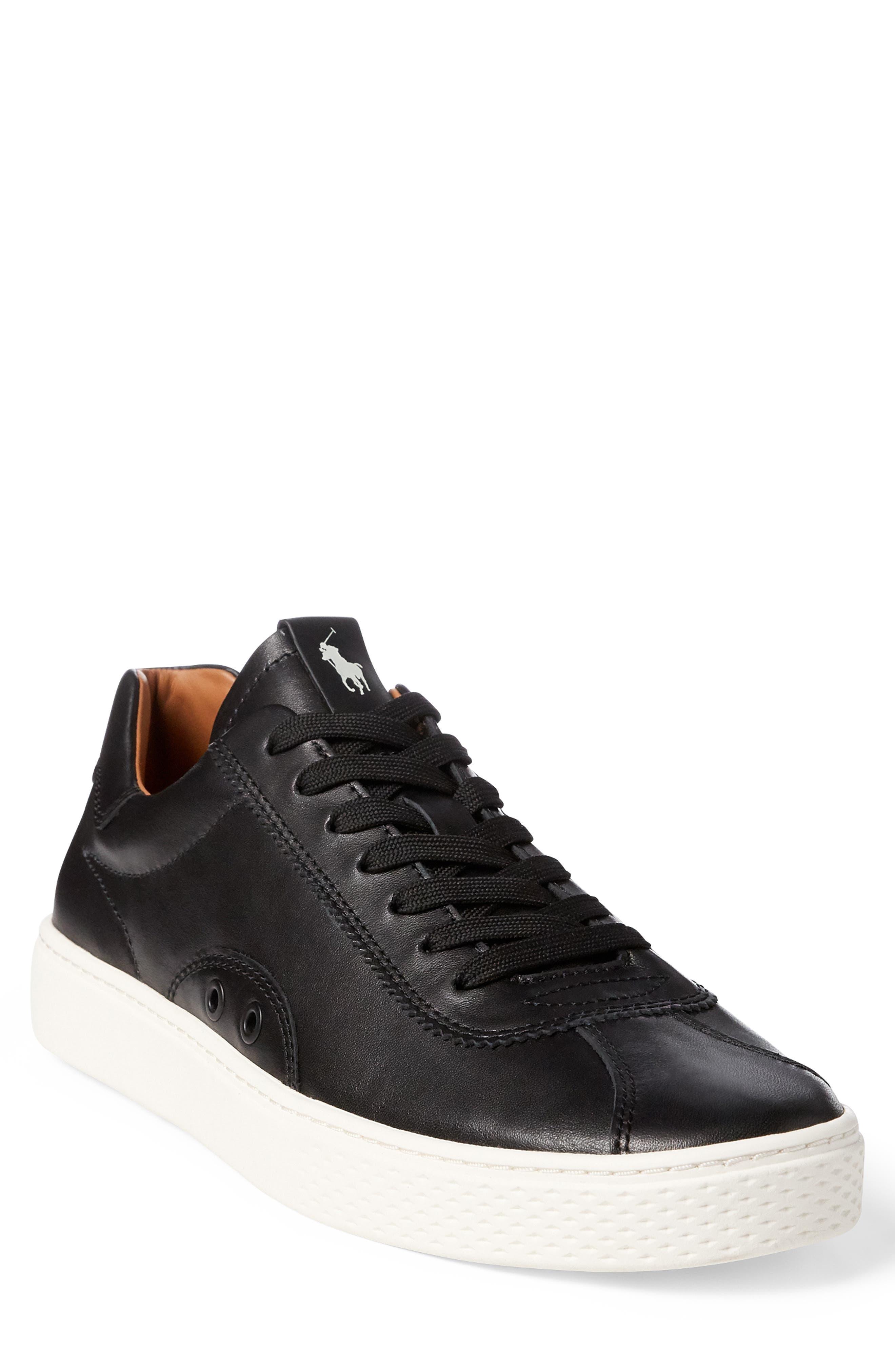 Polo Ralph Lauren Court 100 Lux Sneaker, Black