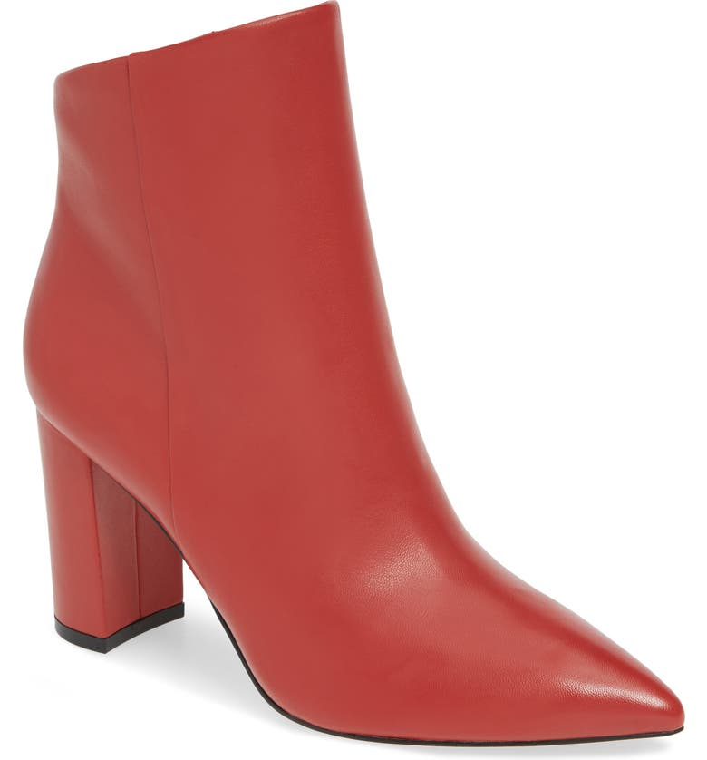 MARC FISHER LTD Unique Bootie, Main, color, RED LEATHER