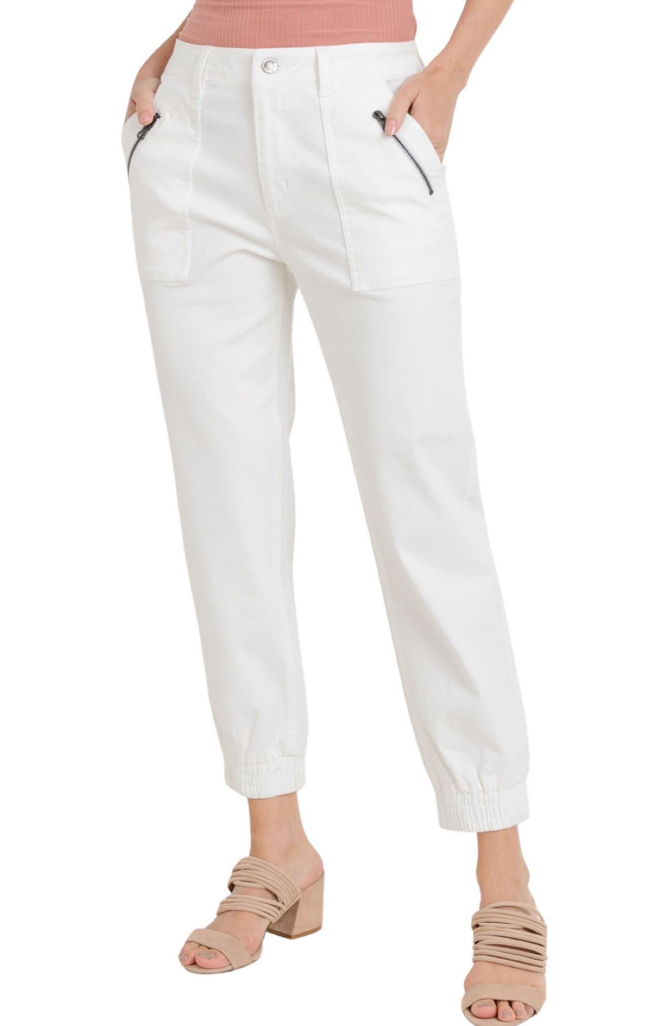 Zip Pocket Ankle Jeans
