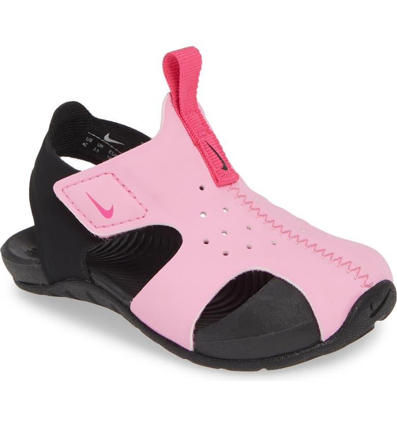 NIKE Sunray Protect 2 Sandal, Main, color, PSYCHIC PINK/ FUCHSIA-BLACK