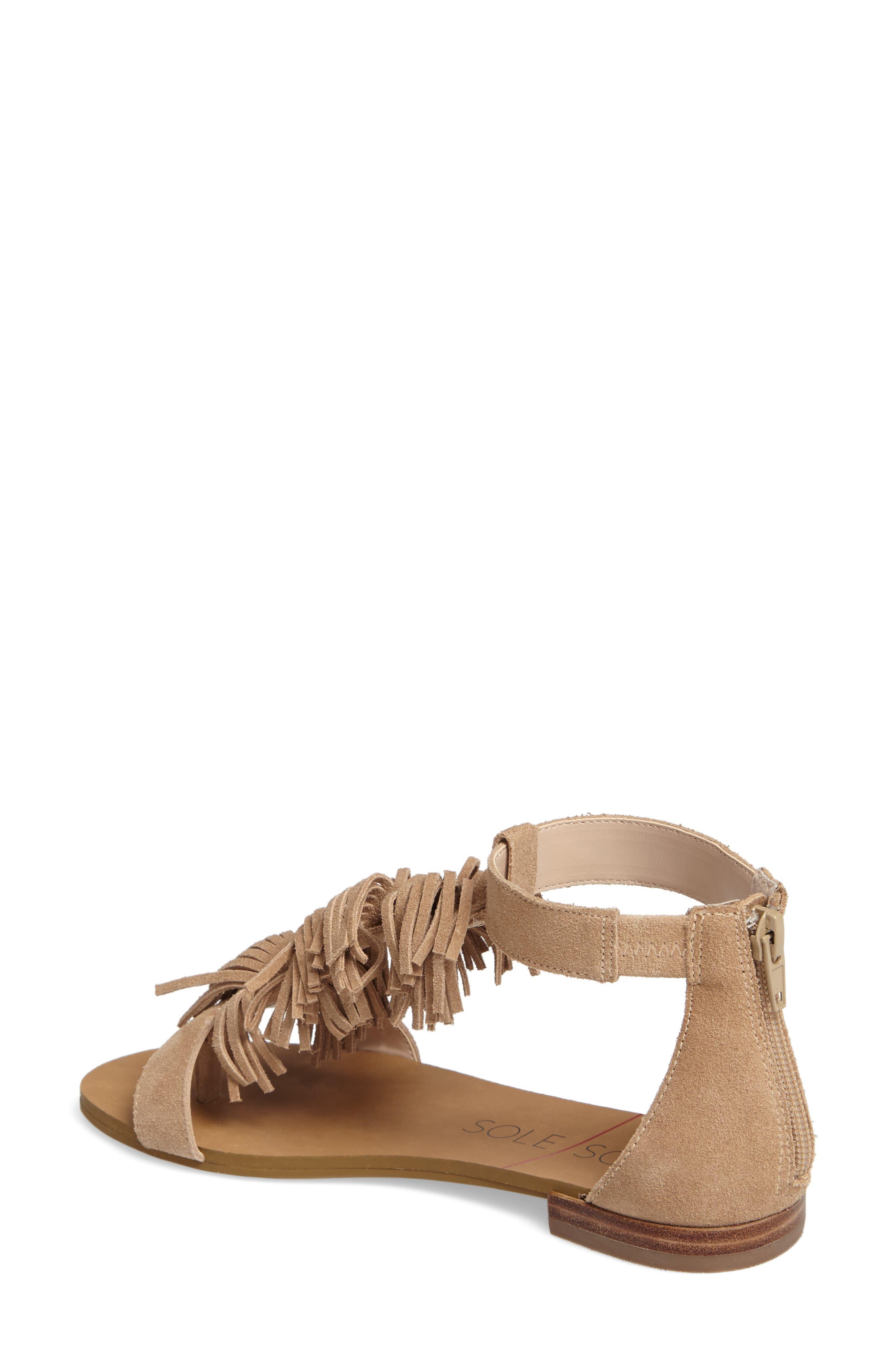 ,                             Koa Fringed T-Strap Sandal,                             Alternate thumbnail 2, color,                             200