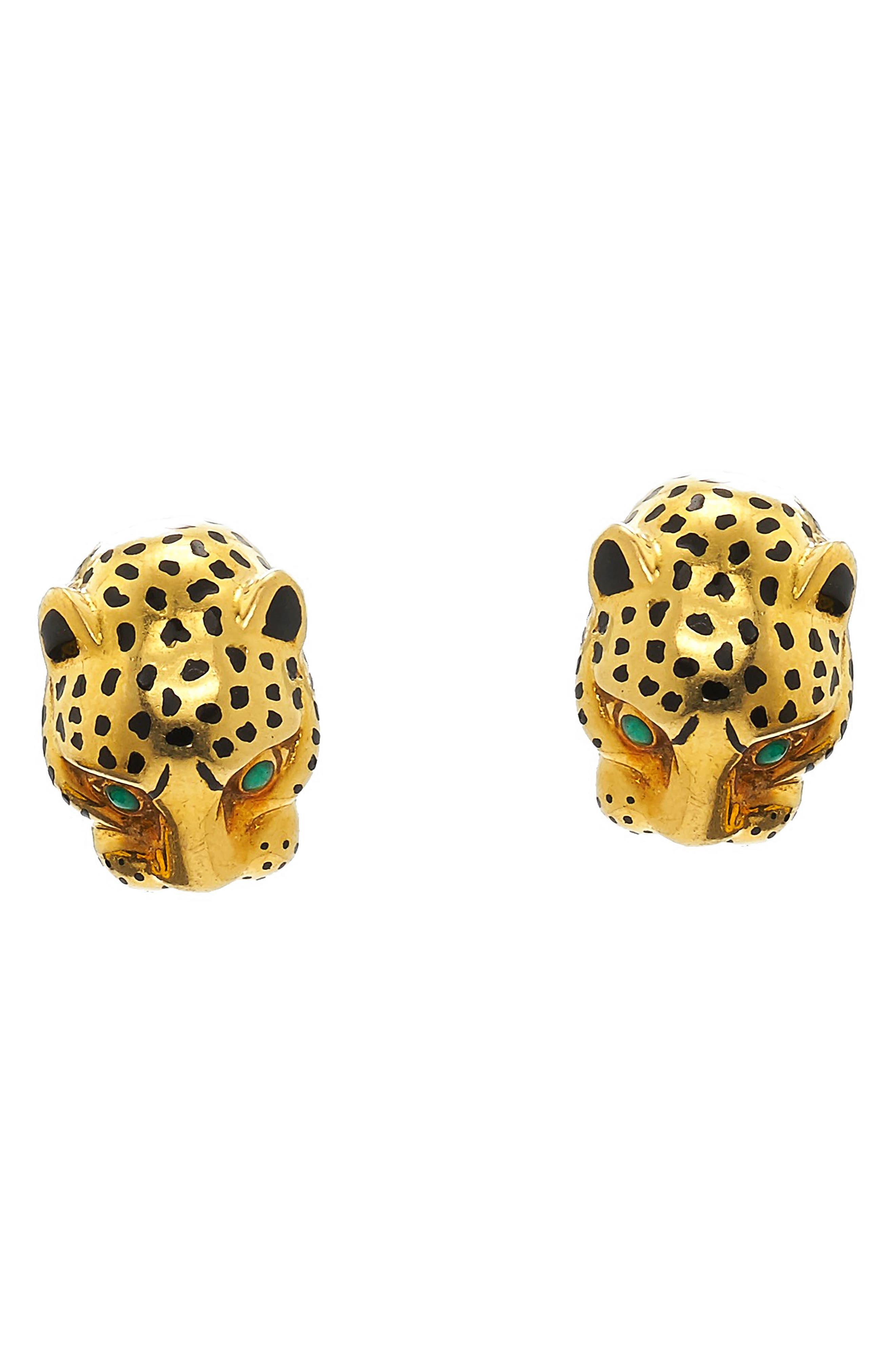Kingdom Leopard Stud Earrings