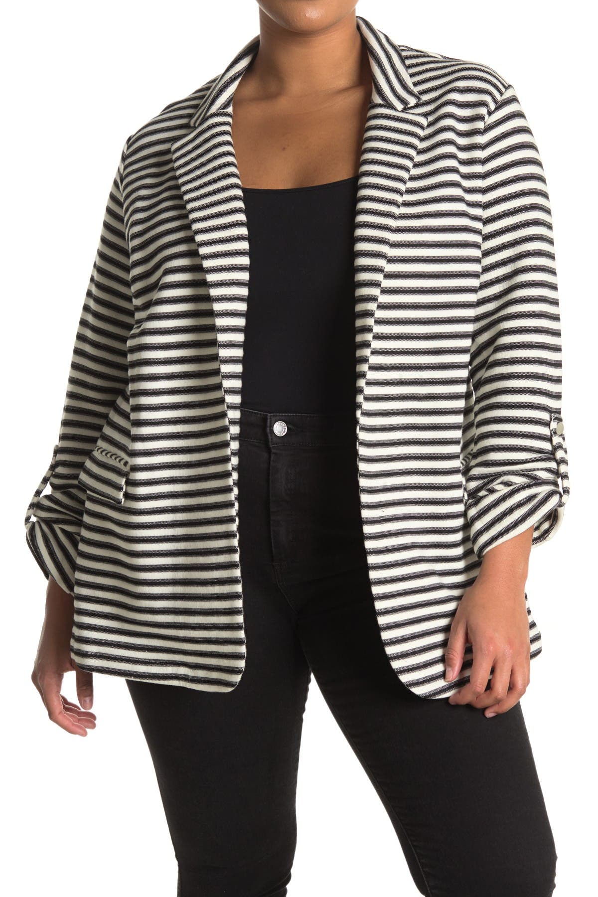 Image of DR2 by Daniel Rainn Striped Notch Lapel Blazer
